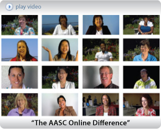 Click here to a watch a collection of clips that show you how our clients feel about AASC Online